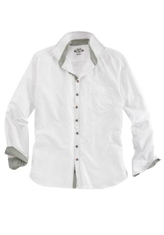 OS - Trachten Trachtenhemd mit Ziersteppnähten kaufen