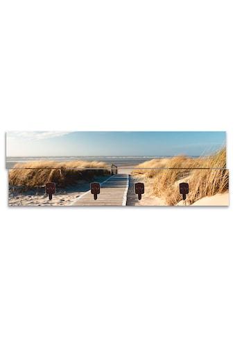 Artland Garderobenpaneel »Nordseestrand auf Langeoog  -  Steg« kaufen