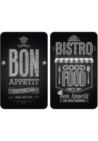 """WENKO Herd - Abdeckplatte """"Bon Appetit"""", Glas, (Set, 2 - tlg.) kaufen"""