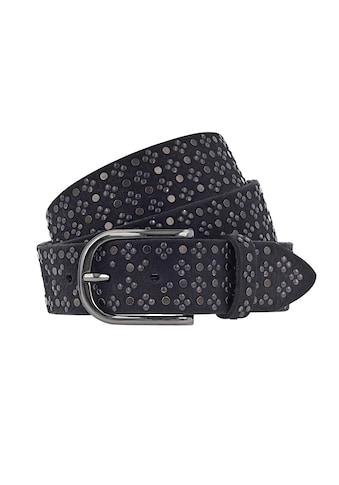 b.belt Ledergürtel, und Schließe in glänzendem Schwarz kaufen
