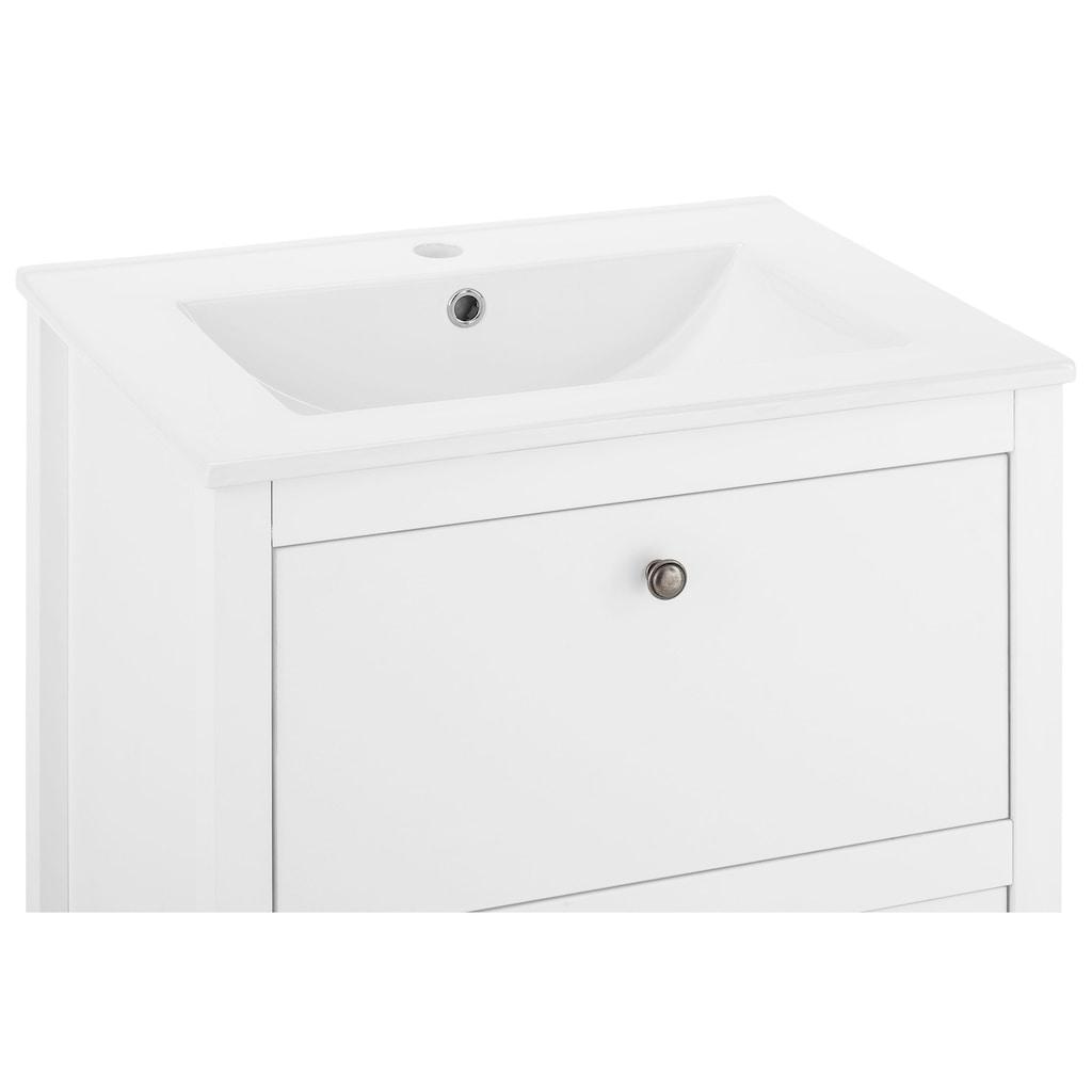 trendteam Badmöbel-Set »Ole«, (Set, 2 St.), für Gäste-WC geeignet