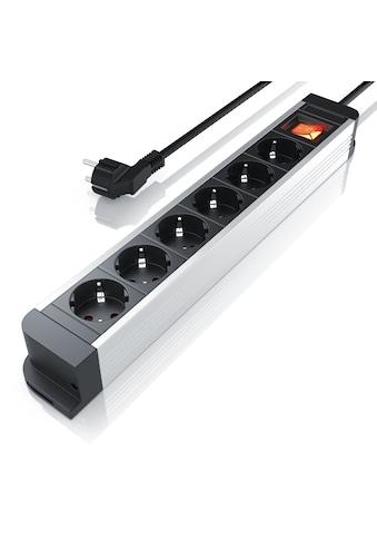 Arendo 6 - fach Aluminium Steckdosenleiste / bis zu 3680W »integrierter Kinderschutz/ IP20 / 1,5m« kaufen