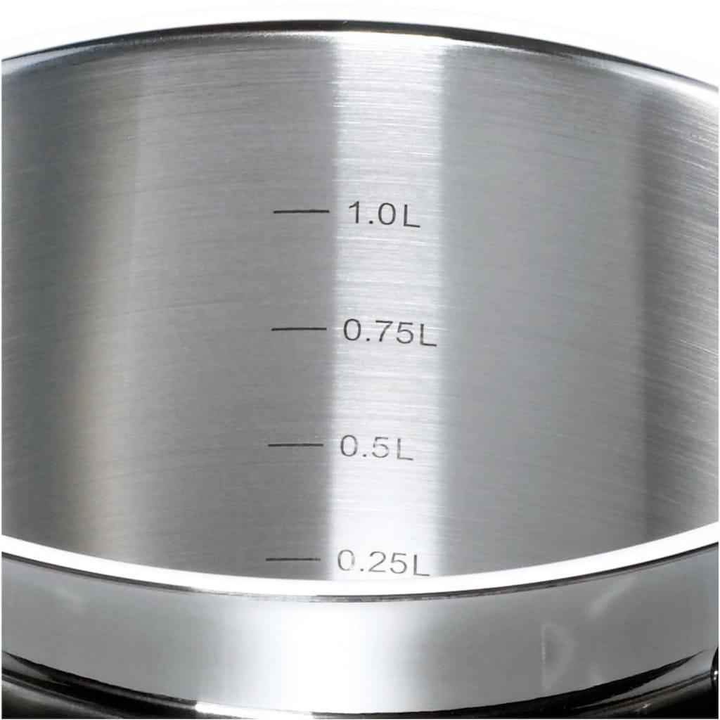 SCHULTE-UFER Topf-Set »Turbo Line«, Edelstahl 18/10, (Set, 8 tlg.), Induktion