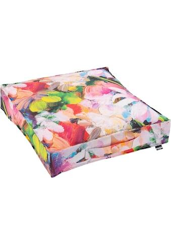 H.O.C.K. Sitzkissen »Flower«, in sommerlichen Farben kaufen