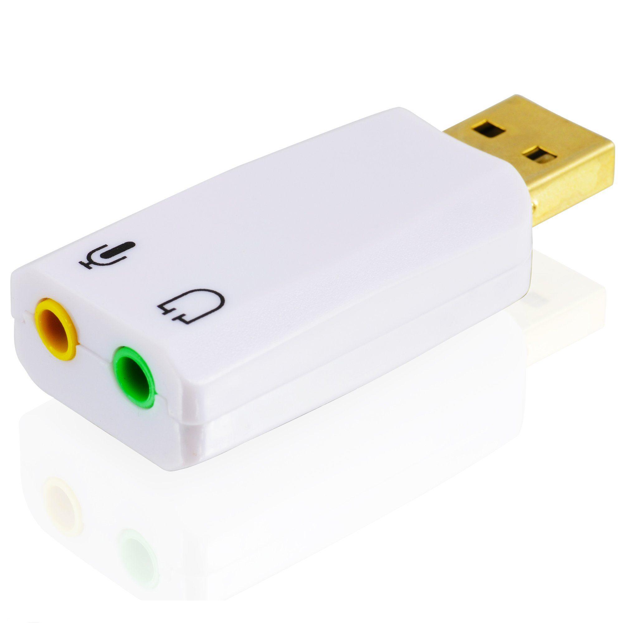 CSL Externe USB Soundkarte mit 5.1 Virtual Surround »Line-Out & Mikrofon-In Anschlüsse«
