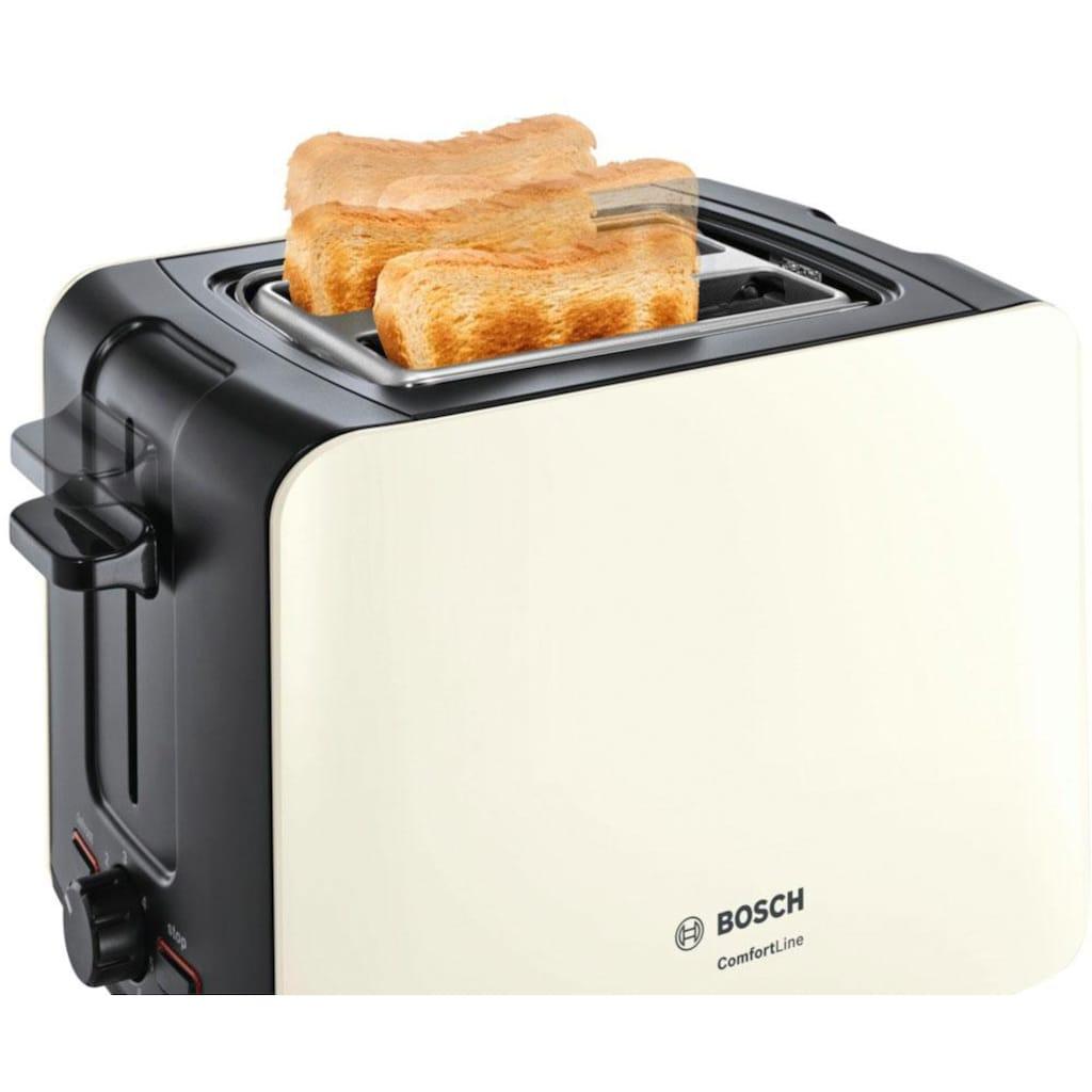 BOSCH Toaster »ComfortLine TAT6A117«, für 2 Scheiben, 1090 Watt