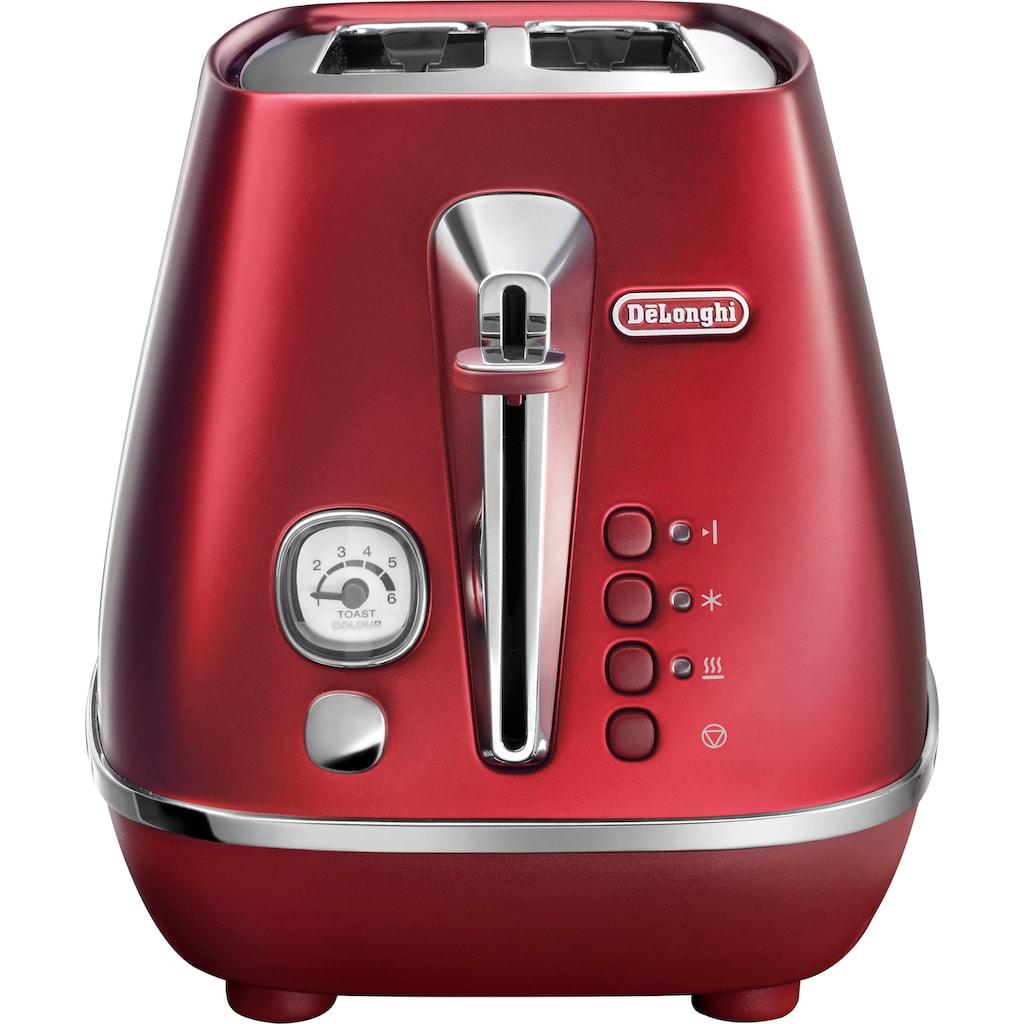 De'Longhi Toaster »Distinta CTI 2103.R«, 2 kurze Schlitze, für 2 Scheiben, 900 W