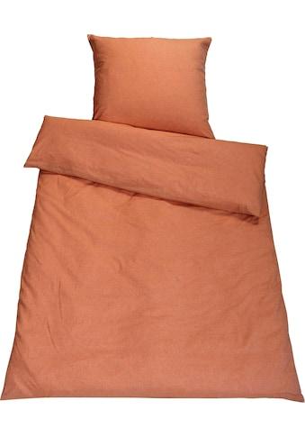 SETEX Bettwäsche »Chambray«, in diversen Uni-Tönen kaufen