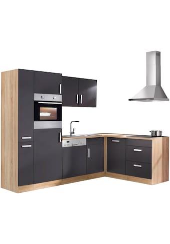 HELD MÖBEL Winkelküche »Toronto«, mit E - Geräten, 260 x 170 cm kaufen