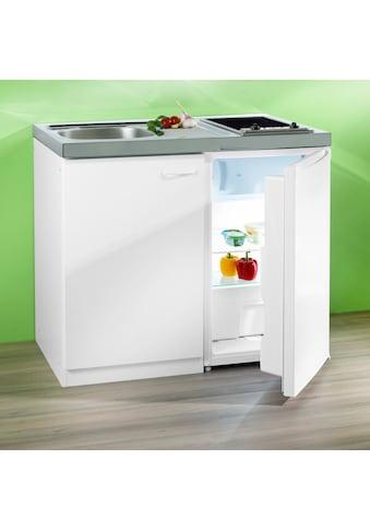RESPEKTA Miniküche, mit Glaskeramik-Kochfeld und Kühlschrank kaufen