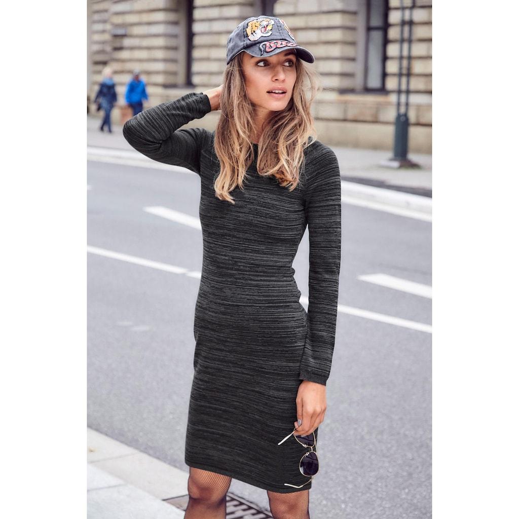 Aniston CASUAL Strickkleid, mit Reißverschluss