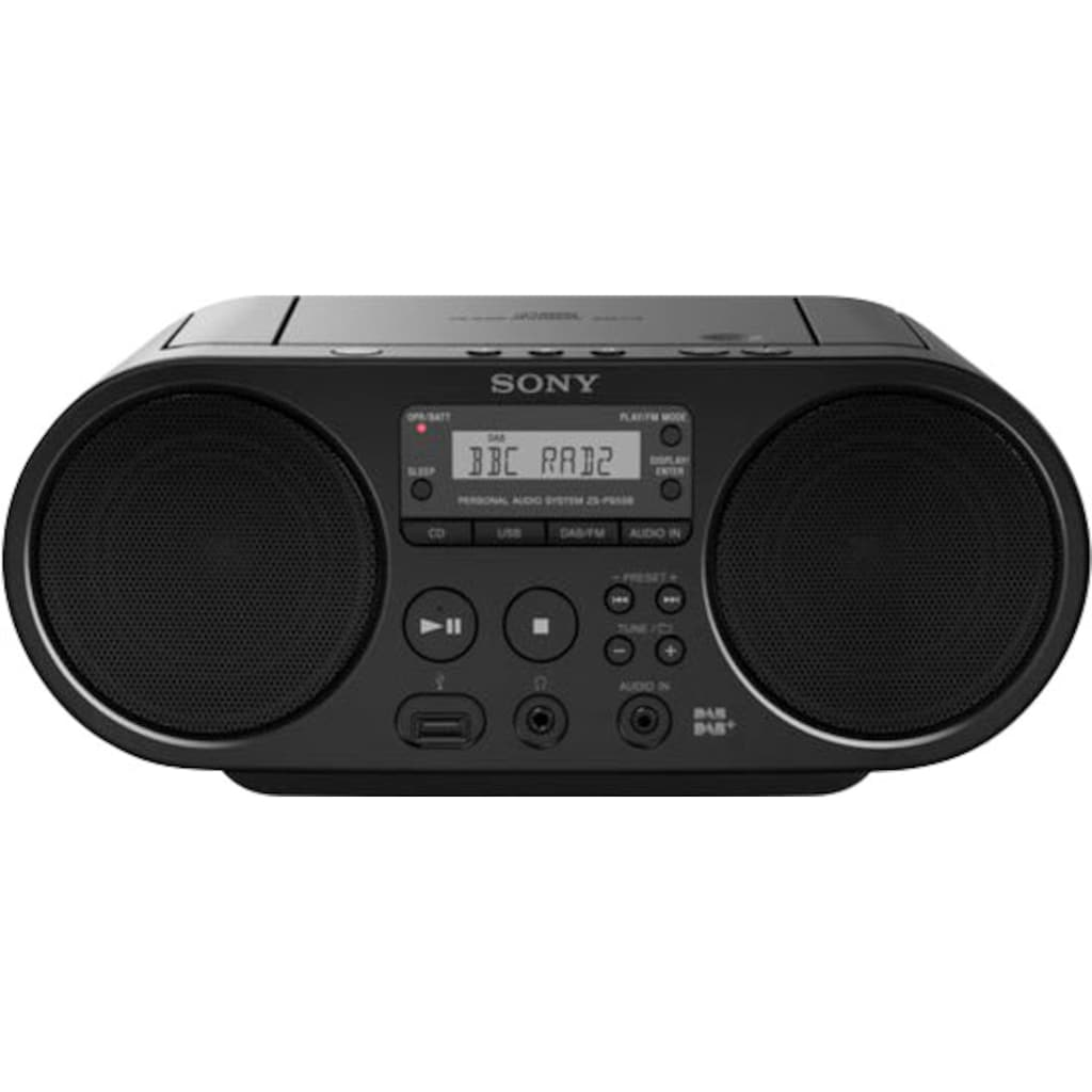 Sony Boombox »ZS-PS55B mit DAB«, (UKW mit RDS 4 W)