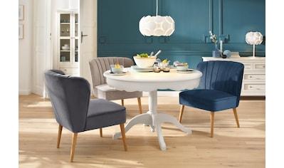 Home affaire Sessel »Narmada«, in drei verschiedenen Farben, mit schöner Raffung in der Rückenlehne, aus weichen Samt Chenille Stoff kaufen