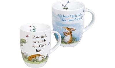 Könitz Becher »Ich hab dich lieb«, (Set, 2 tlg., 2 Becher), 380 ml, 2-teilig kaufen