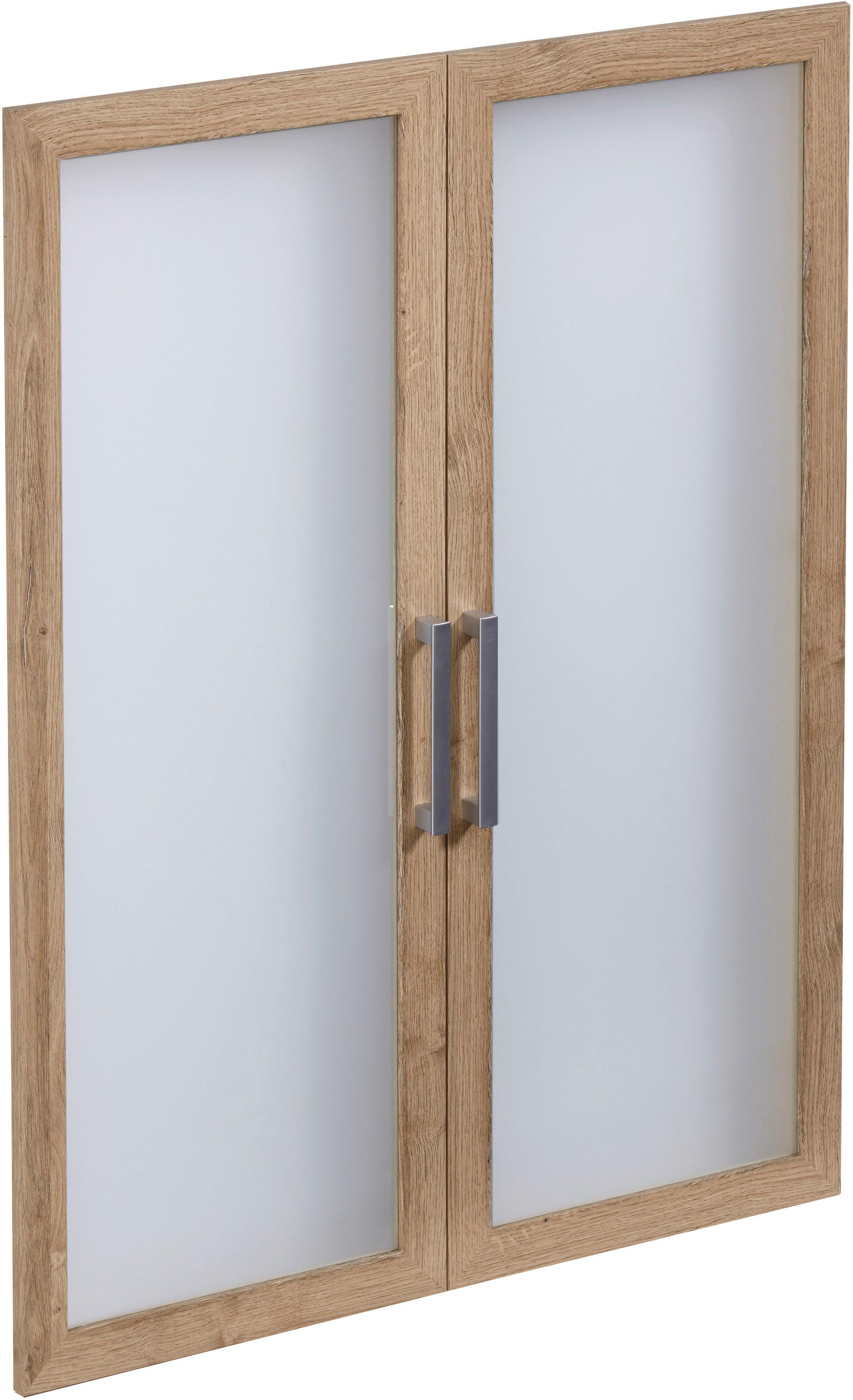 FMD Glastüren-Set »Calvi« | Wohnzimmer > Vitrinen > Glasvitrinen | Natur | Kunststoff - Melamin | QUELLE