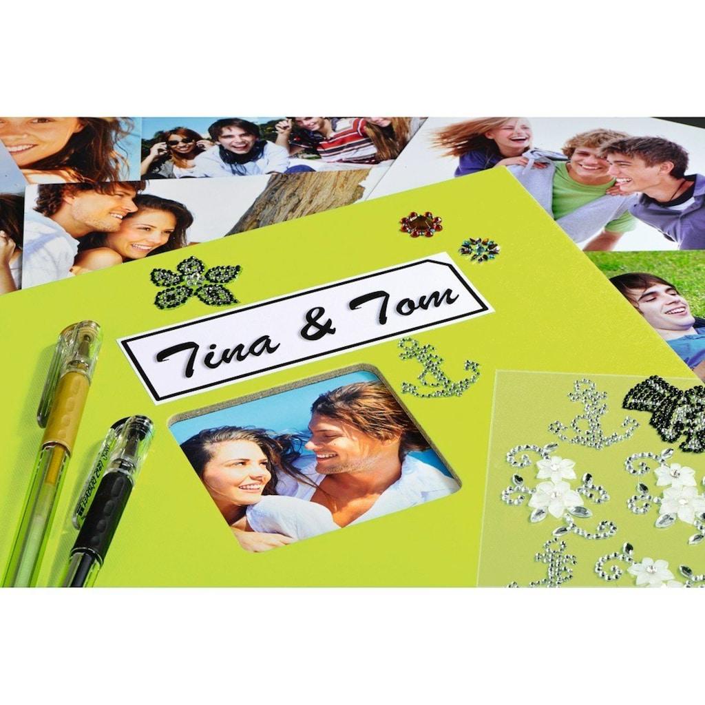 """Hama Fotoalbum »Fotoalbum zum einkleben Kiwi«, 24 x 17 cm, 50 Seiten, Photoalbum """" Fine Art"""