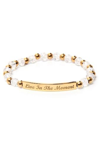 J.Jayz Armband »Live In The Moment, glitzernd«, mit Glas- und Metallperlen kaufen