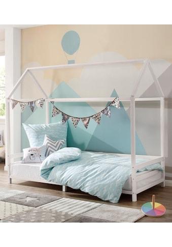 Lüttenhütt Hausbett »Ellen«, mit Reling aus massivem Kiefernholz, in zwei verschiedenen Farbvarianten erhältlich, Breite 208 cm kaufen
