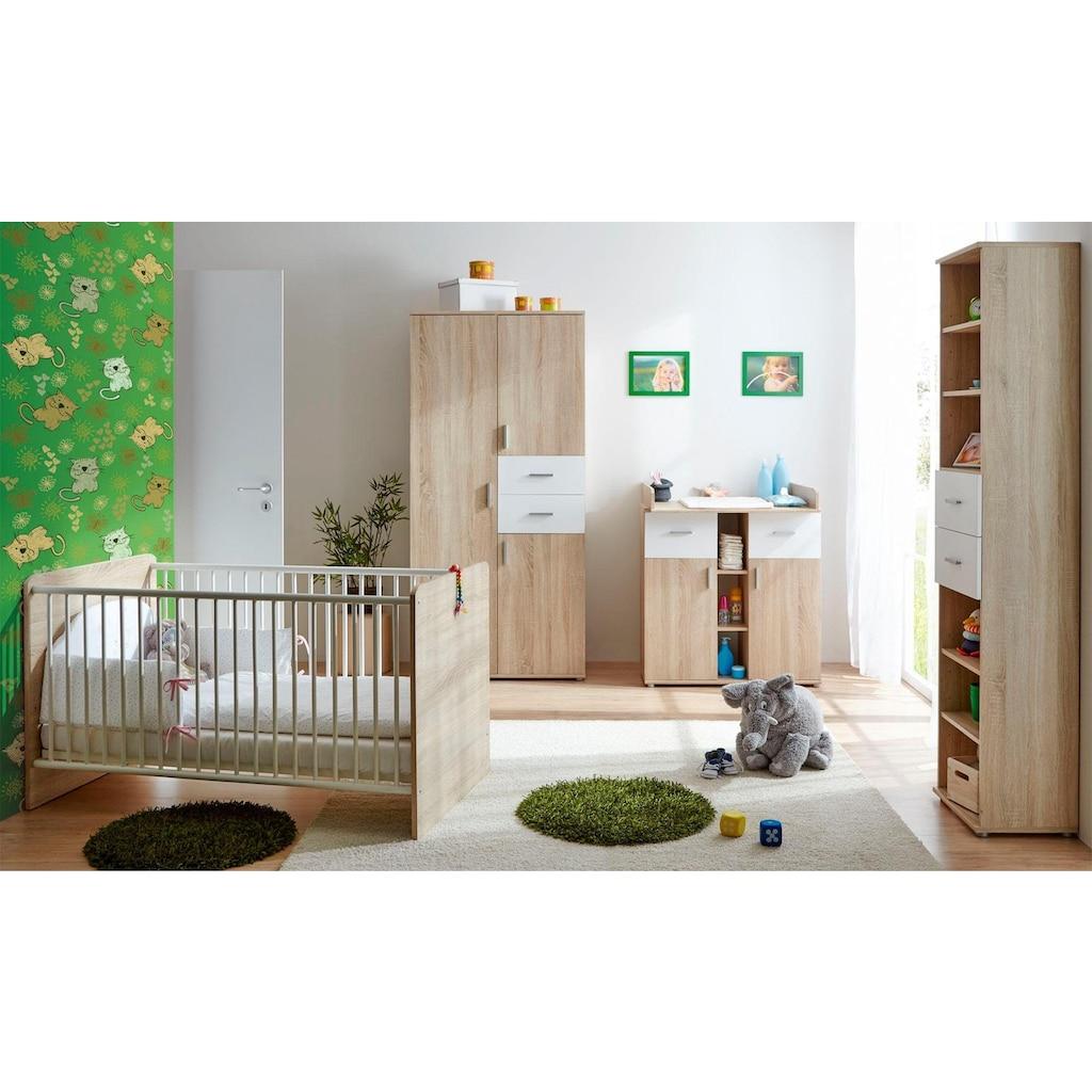 Ticaa Babyzimmer-Komplettset »Nico«, (Set, 3 tlg.), Bett + Wickelkommode + Schrank
