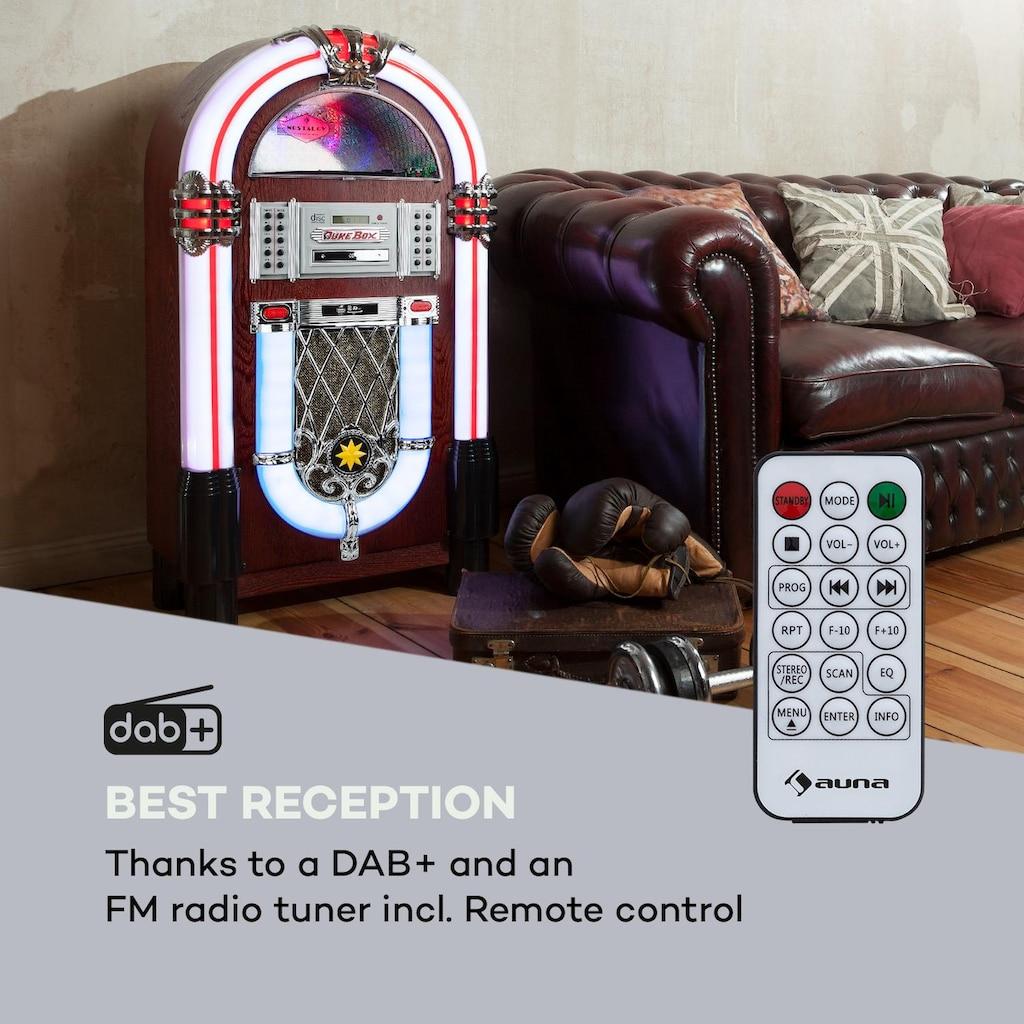 Auna DAB Jukebox BT CD Vinyl DAB+/UKW USB SD AUX-IN