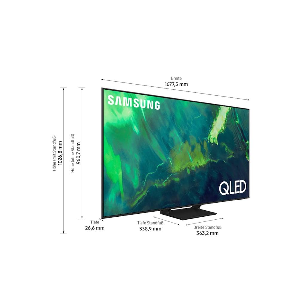 """Samsung QLED-Fernseher »GQ75Q70AAT«, 189 cm/75 """", 4K Ultra HD, Smart-TV"""
