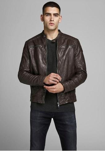 Jack & Jones Lederjacke »Liam Leather Jacket« kaufen