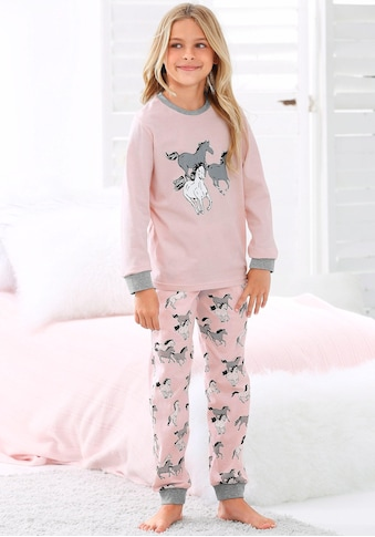 petite fleur Pyjama, in langer Form mit Pferde Print kaufen