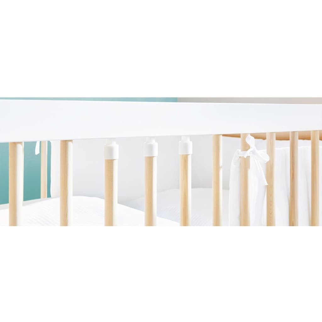 Pinolino® Babyzimmer-Komplettset »Round«, (Set, 3 St.), breit groß; mit Kinderbett, Schrank und Wickelkommode; Made in Europe