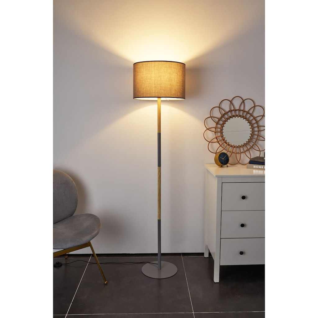 Pauleen Stehlampe »Grand Purity«, E27, 1 St., Stoffschirm Grau