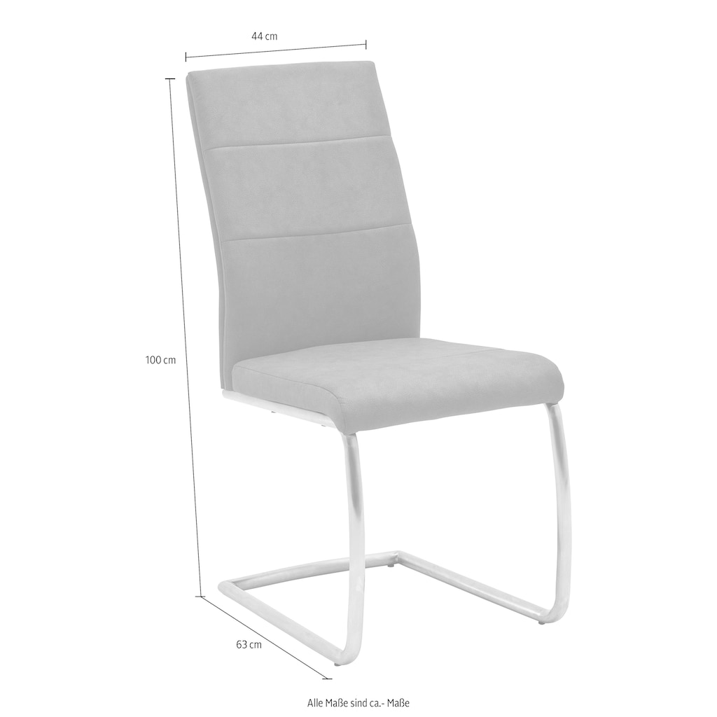 MCA furniture Freischwinger »Flores B«, 2er-Set bis 130 Kg belastbar
