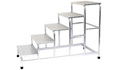 SZ METALL Trittleiter, Aluminium, 5-stufig kaufen