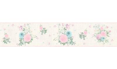 LIVINGWALLS Bordüre »Djooz 2«, floral, im Landhaus - Stil Shabby Chic, Vlies kaufen