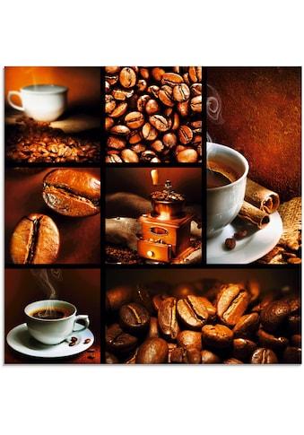 Artland Glasbild »Kaffee Collage«, Getränke, (1 St.) kaufen
