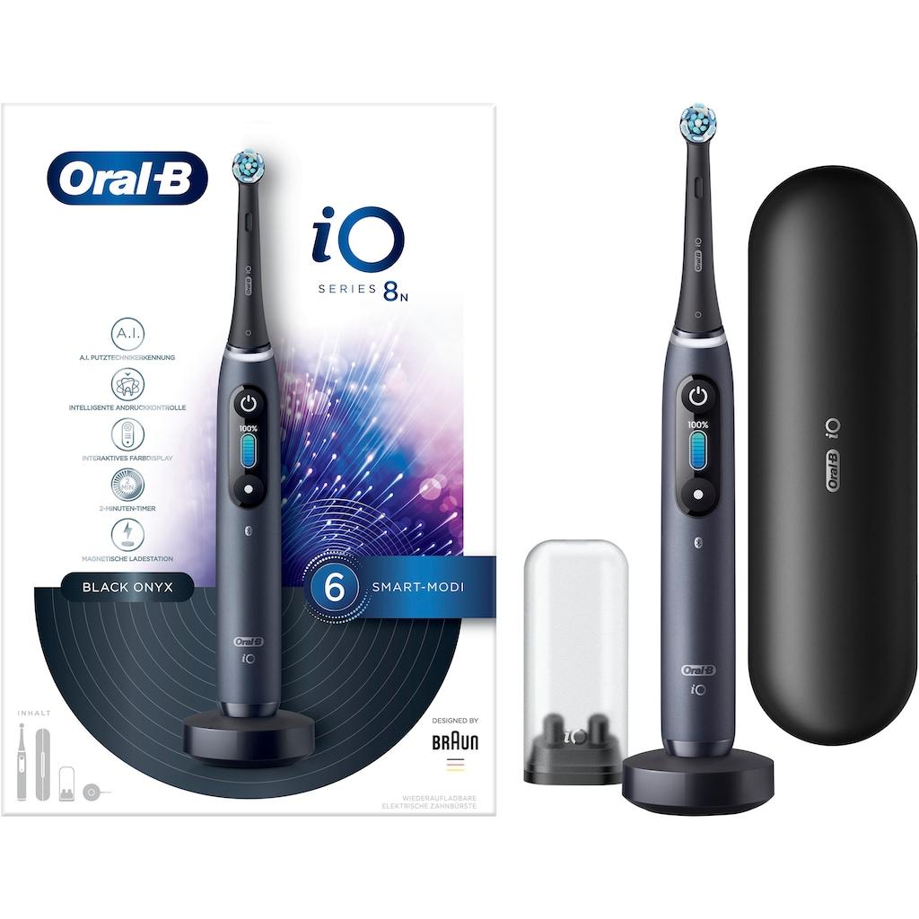 Oral B Elektrische Zahnbürste »iO Series 8N«, 1 St. Aufsteckbürsten, Magnet-Technologie