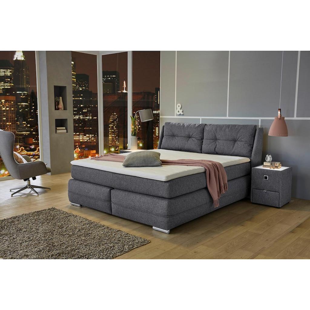 Jockenhöfer Gruppe Boxspringbett, mit Bettkasten, Kaltschaum-Topper und wandelbar zur Überlänge