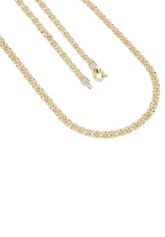 Firetti Goldkette »Königskettengliederung, 6,6 mm breit, glänzend, teilw. rhodiniert, beidseitig bombiert, bicolor« kaufen