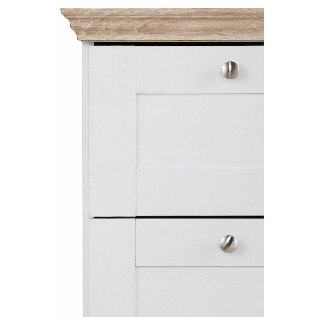 Home affaire Kommode »Binz«, mit schönen Metallgriffen, 3 Schubladen, Breite 75 cm