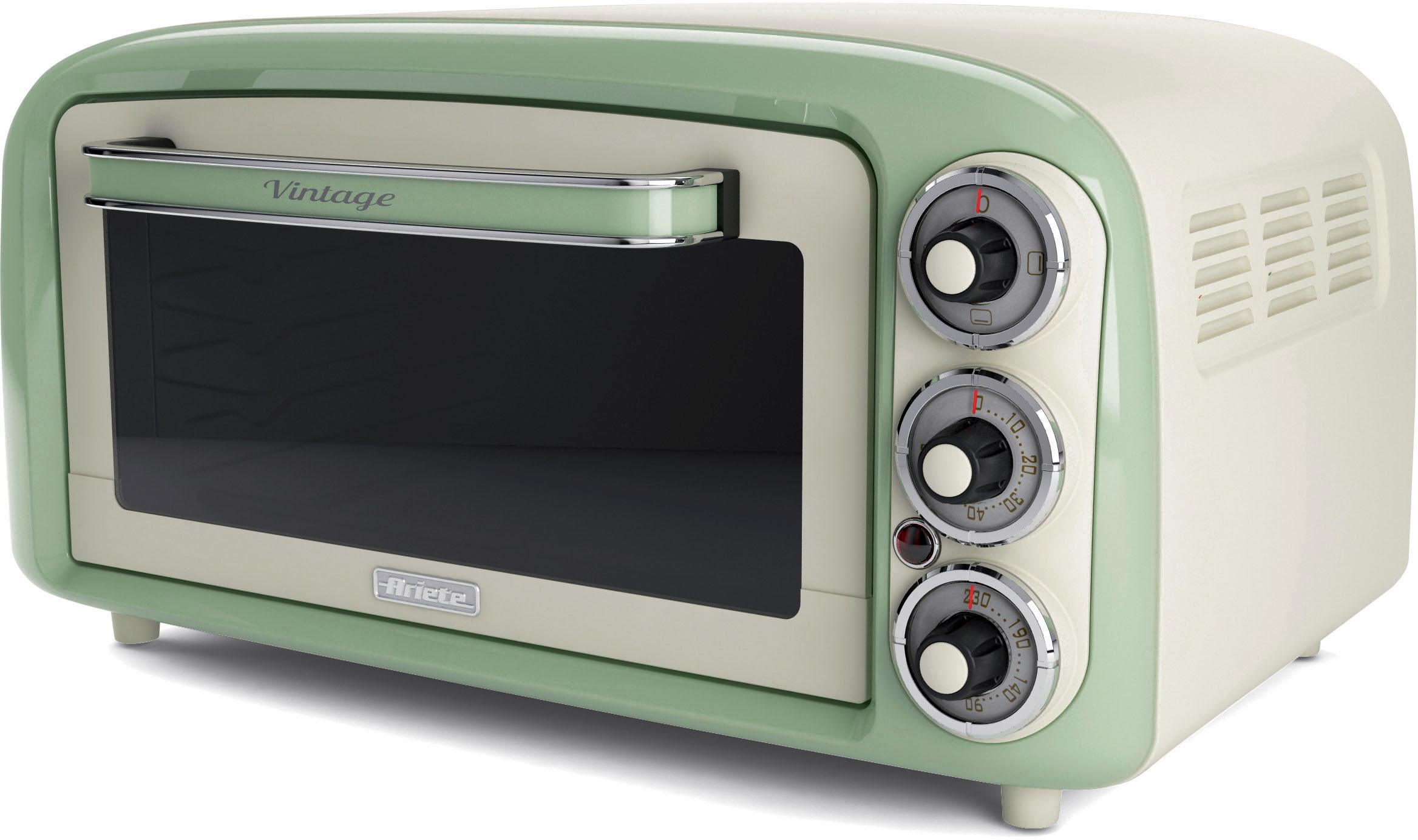 Ariete Minibackofen Vintage 979 grün, 1380 W | Küche und Esszimmer > Küchenelektrogeräte > Küche Grill | Grün | ARIETE
