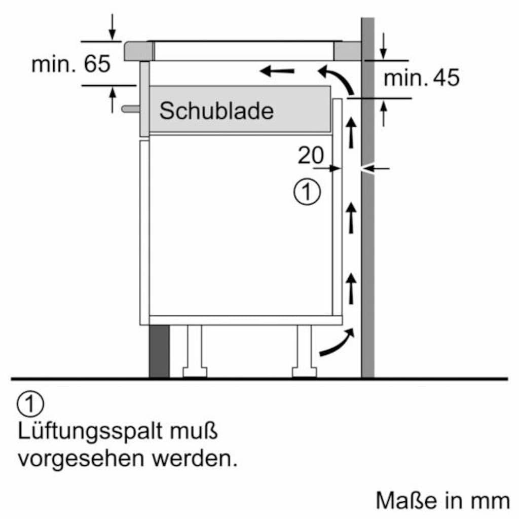 SIEMENS Flex-Induktions-Kochfeld von SCHOTT CERAN®, EX875LYC1E, mit powerMove Plus