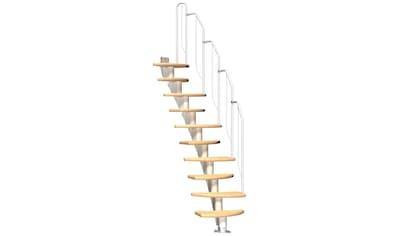 DOLLE Mittelholmtreppe »Berlin«, für Geschosshöhen bis 270 cm, variabler Treppenlauf kaufen