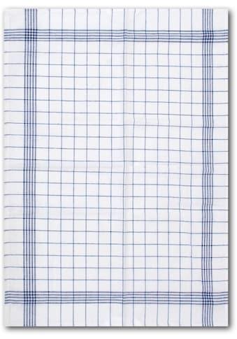 """Dyckhoff Geschirrtuch """"KARO / Halbleinen  -  50x70 cm"""" (Set, 10 - tlg.) kaufen"""