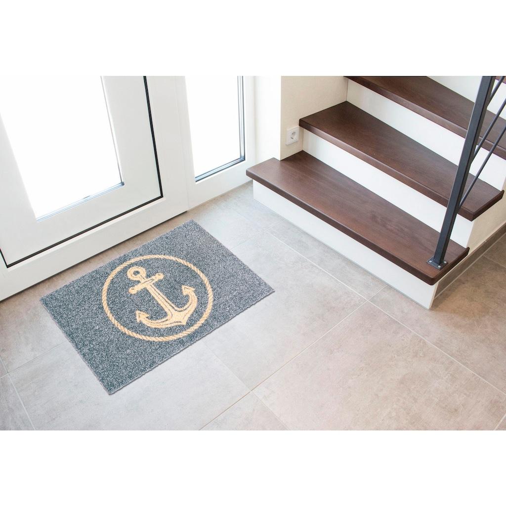 my home Fußmatte »Anker«, rechteckig, 5 mm Höhe, Schmutzfangmatte In- und Outdoor geeignet, waschbar
