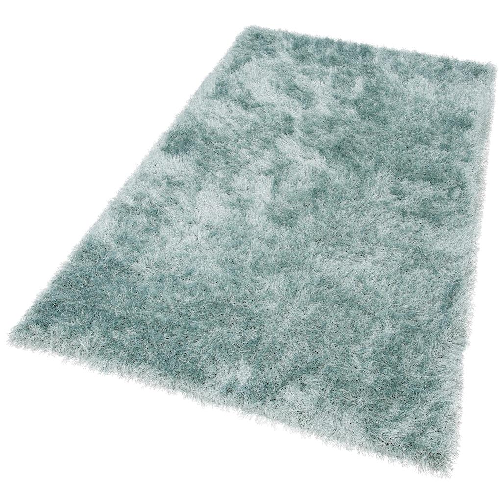 Hochflor-Teppich, »Glossy 411«, merinos, rechteckig, Höhe 70 mm, maschinell gewebt