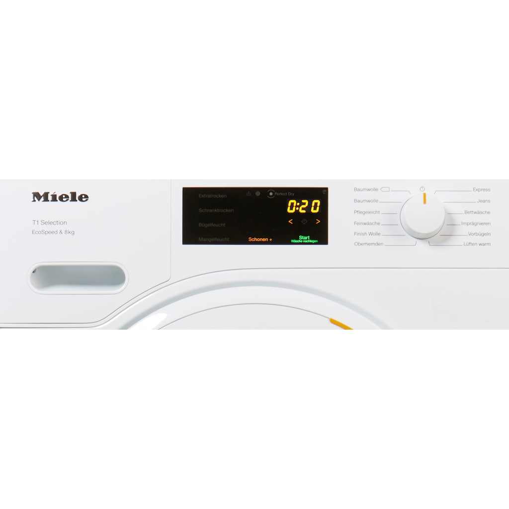 Miele Wärmepumpentrockner »TSD443 WP EcoSpeed&8kg«, T1 White Edition, 8 kg