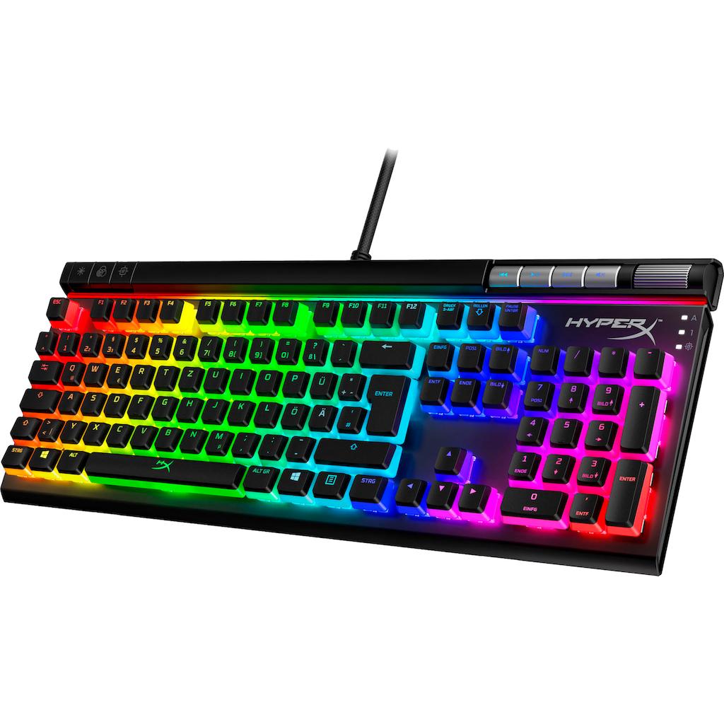 HyperX Gaming-Tastatur »HyperX Alloy Elite™ 2«, (Gaming-Modus-Multimedia-Tasten-Funktionstasten-Ziffernblock-Lautstärkeregler-USB-Anschluss)