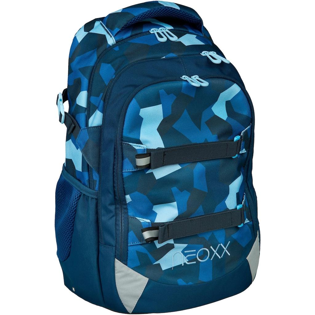 neoxx Schulrucksack »Active, Camo nation«, aus recycelten PET-Flaschen