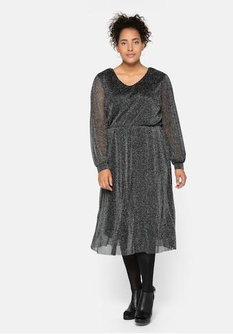 Sheego Partykleid, mit Effektgarn kaufen