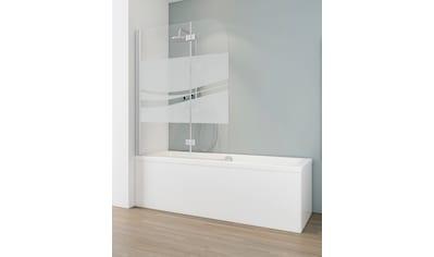 SCHULTE Badewannenfaltwand »Liane«, 3 - tlg., teilgerahmt, BxH: 112 x 140 cm kaufen