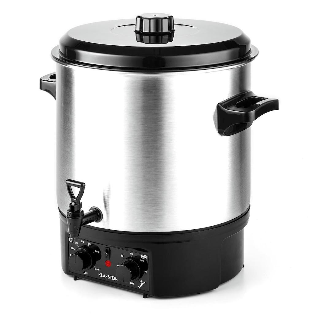 Klarstein Einkochautomat Glühweinkocher 27 Liter mit Zapfhahn Timer 2000W »Biggie«