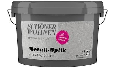 SCHÖNER WOHNEN-Kollektion Wandfarbe »Metalloptik Effektfarbe silber«, 1 l kaufen